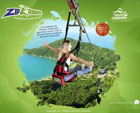 ZipRider® in Parque Unipraias
